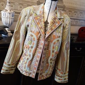 Coldwater Creek boho embroidered jacket